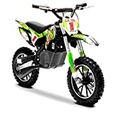 Funbikes Green Kids Dirt Bike – Childrens Electric Motorbike Mini Motocross Scrambler
