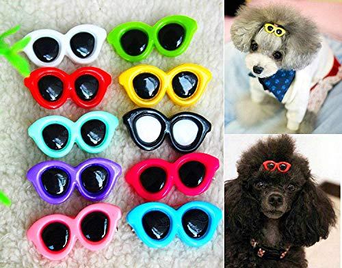 FidgetGear - 30 Piezas de Lazos para el Pelo de Perro, Gafas de Sol para Mascotas, Accesorios para el Pelo
