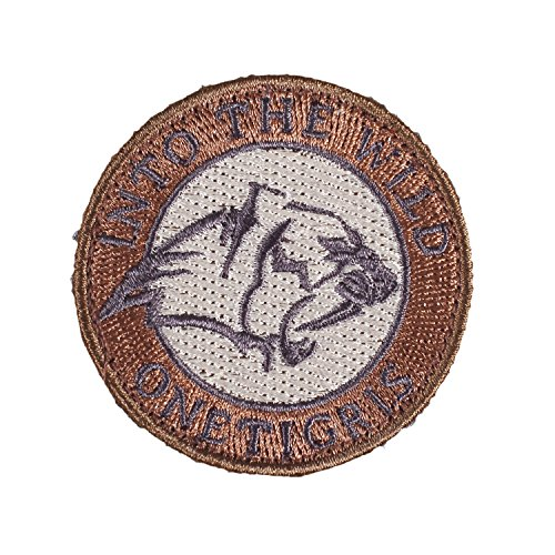 """OneTigris Moral Patch Stickerei """"Saber-toothed Tiger """" / """"Säbelzahntiger"""" Klett-Patch"""