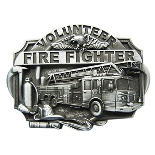Urban Backwoods Volunteer Fire Fighter IV Gürtelschnalle für Wechselgürtel Buckle - Firefighter Gürtelschnalle