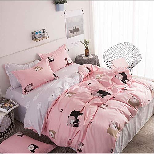 SHJIA Classic Printing Tröster Bettwäsche Set Bettwäsche Baumwolle Bettbezug Set Heimtextilien E 150x210cm -