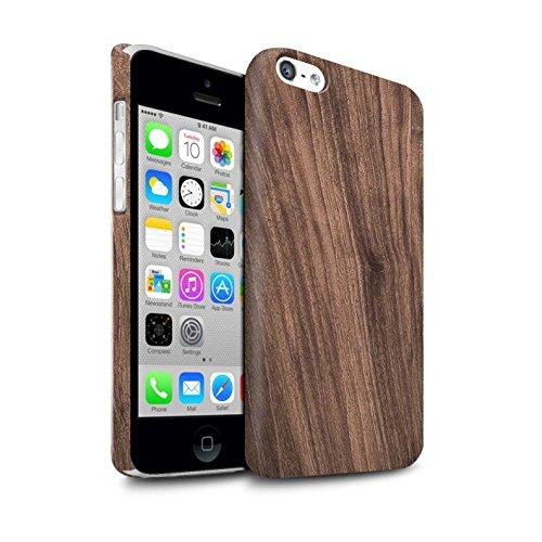 Clipser Matte Coque de Stuff4 / Coque pour Apple iPhone 5C / Noyer Design / Motif Grain de Bois Collection
