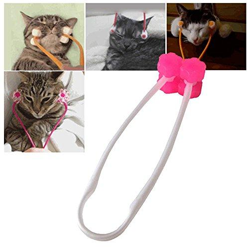 AUOKER Massagegerät für Katzen, Kätzchen, Hunde, Welpen, zur Entlastung von Angstzuständen, Exquisite Katzen-Massagegerät, Entlastung der Beine, zum Entfernen von Kinn, Nacken, Katzenspielzeug