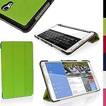 "igadgitz Verde PU Cuero Funda para Samsung Galaxy Tab S 8.4"" SM-T700 con Soporte Multi-Angle + Auto Sleep/Wake + Protector Pantalla"