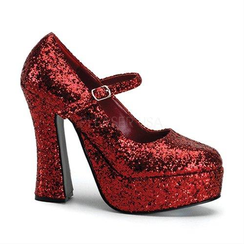 50 Demonia Dolly Plateau Scarpe con Rosso Donna 5RqBR