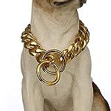 W/W Lebenslange Starke Panzerkette Metall Halsband Hund Training Halsband Halsband Pet Halsseil 19 mm 45,7-101,6 cm