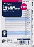 Filofax Kalendereinlage Pocket: Ein Monat auf zwei Seiten tabbed 2019 deutsch mit Monatsregister