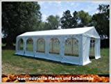 Pavillon Pavillion Festzelt Partyzelt Giant Pro PVC FR 6x10m 10x6m 6x10 10x6 mit Fenster