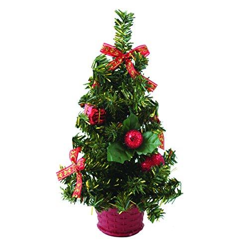 Piccolo Natale scrivania albero–rosso o oro Red
