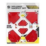 Zerone 6pcs Support de Soudure Magnétique Angle De Soudure Fixe Positionneur Outil De Soudure Sans Interrupteur