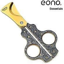 Eono Essentials Cigar Scissors Copper 2 Lame Ghigliottina Manico sovradimensionato per la maggior parte dei sigari con confezione regalo