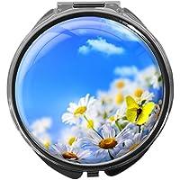 Pillendose/rund/Modell Leony/Natur - Blumen/BLUMENWIESE preisvergleich bei billige-tabletten.eu