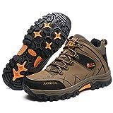GOMNEAR Chaussures Homme Randonnée en Cuir Bottes de Montagne Chaussures Walking Trekking