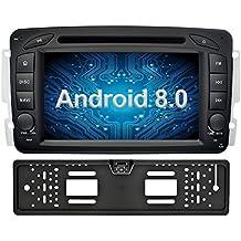 Ohok 7 Pollici Android 8.0.0 Oreo Octa Core 4G+32G 2 Din In Dash Autoradio Schermo di Tocco Lettore DVD Navigatore GPS Con Bluetooth Per Mercedes-Benz C class W203/Clk -C209/W209/Viano/Vaneo/G-W463/A-Class W168 con telecamera di retromarcia