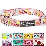 Blueberry Pet Osterkükendruck Designer Hundehalsband in Baby-Pink, S