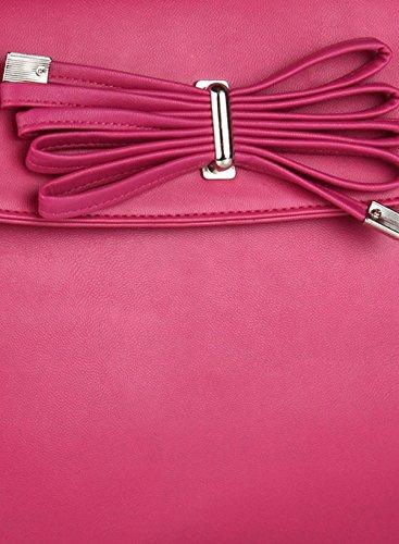 Butterflies Designer Lässig Kunstleder Lange Gürtelschulterhandtasche Rosa