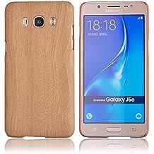 Voguecase® Para Samsung Galaxy J5 (2016) J510FN Funda,(madera de color marrón claro) Carcasa Duro caja protectora Tapa Case Cover + Gratis aguja de la pantalla stylus universales