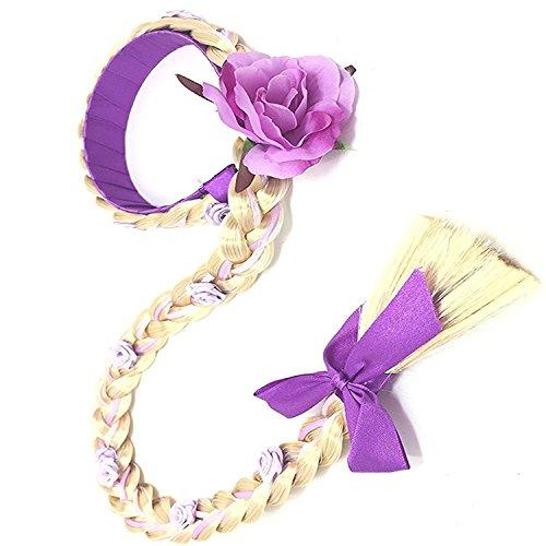 GenialES Prinzessin Verkleiden Dress Up Violett Perücke für Geburtstag Halloween Karneval-Partei Cosplay (Kinder Verkleiden Perücken)