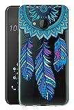 Sunrive Coque pour HTC U Play Silicone Étui Housse Protecteur Souple TPU Gel Transparent Back Case(TPU Dreamcatcher)+ Stylet OFFERTS