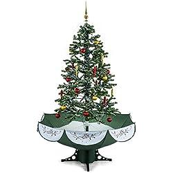 OneConcept Everwhite • künstlicher Weihnachtsbaum • Christbaum • Tannenbaum • Schneefallsimulation • 180 cm hoch • Lichterkette • Blaue LED-Beleuchtung • zuschaltbare Musikuntermalung • grün