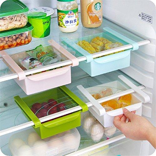 qianzhi Klemm-Schublade für Kühlschrank Transparent Schublade Aufbewahrungsbox Kühlschrankbox Schublade Aufbewahrungskiste Gemüsefach Kühlfach Gemüseschale Fach Zusatzfach