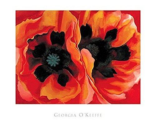 Georgia O'Keeffe – Asiatischer Mohn 1928 (Silkscreen) Poster Drucken (76,20 x 63,50 cm) (Silkscreen-drucken)