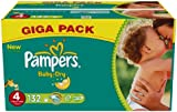 Pampers Baby Dry Nappies, Size 4 (Total 132 Nappies)