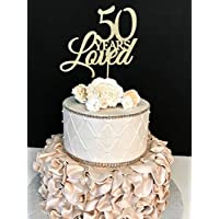 Amazon It 50 Anniversario Matrimonio Topper Per Torte Utensili