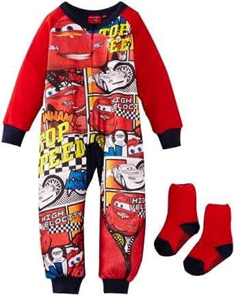 Disney Pixar Cars Boys' Onesie Pyjamas Red/Dark Blue 4 Years