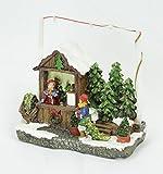 Weihnachtshaus mittelgroß - Tannenbaumstand - bunt und beleuchtet - 4