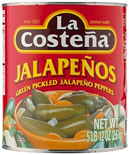 La Costena Jalapeno Enteros ganz | 2600gr | Mexikanische Küche | die beliebteste Chilischote | mild bis mittelscharf | Als Beilage zu Fleischgerichten oder Tortillas | Hervorragender Geschmack