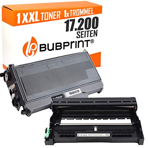 Bubprint Toner & Trommel kompatibel für Brother TN-2120 DR-2100 für DCP-7030 DCP-7040 HL-2140 HL-2150N HL-2170W MFC-7320 MFC-7440N MFC-7840W Schwarz