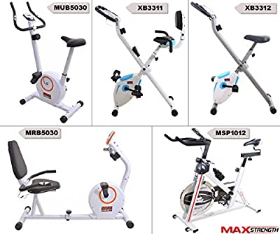 MAXSTRENGTH Exercise Bike Adjustable Resistance Cardio Fitness Workout Indoor Trainer Weight Loss Spinning Machine from Max Strength