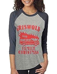 Beikoard Frauen Christmas Print Langarmshirt Große Größe Frohe Weihnachten Alphabet Print Langarm Spleißen Top T-Shirt