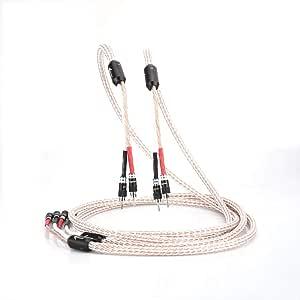 Audiocrast Ofc Hifi High End Lautsprecherkabel Lautsprecher Kabel Mit 8 Rhodium Bananensteckern 15awg 1 Paar Mit