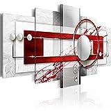 murando - Bilder 100x50 cm Vlies Leinwandbild 5 TLG Kunstdruck modern Wandbilder XXL Wanddekoration Design Wand Bild - Abstrakt a-A-0140-b-n