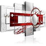 murando – Impression sur toile – 200x100 cm cm – 5 pieces - Image sur toile – Images – Photo – Tableau - motif moderne - Décoration - tendu sur chassis - abstraction abstrait a-A-0140-b-n