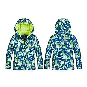 iBaste Skianzug Kinder 2tlg Schneeanzug Skijacke+Skihose Hosenträger Schneehose Jungen Mädchen Regenjacke Gefüttert Mantel Snowboardhose Winterhose Wasserdicht Winddicht für Skifahren Outdoor Sport