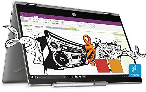 HP Pavilion x360 14 cd0087TU Laptop(8th Gen i5-8250U/8GB DDR4/1TB HDD/128GB SSD/Intel UHD Graphics/WFC Camera/Win10/MS Office H&S 2016) Mineral Silver