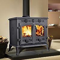 Lincsfire JA006 12KW Cast Iron Multifuel Woodburning Stove Fireplace