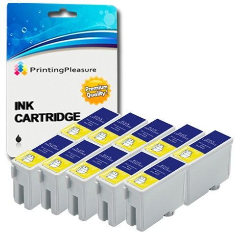 10 Tintenpatronen Kompatibel zu Epson T040 für Epson Stylus C62 CX3200 - Schwarz, Hohe Kapazität (Schwarz Tinte Cx3200 C62)