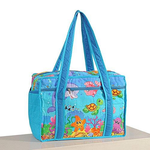 Yuga See Geschöpfe druckte wasserdichte Baby/Mädchen Kinderzimmer Reise Einkaufstasche Für Mütter Blau