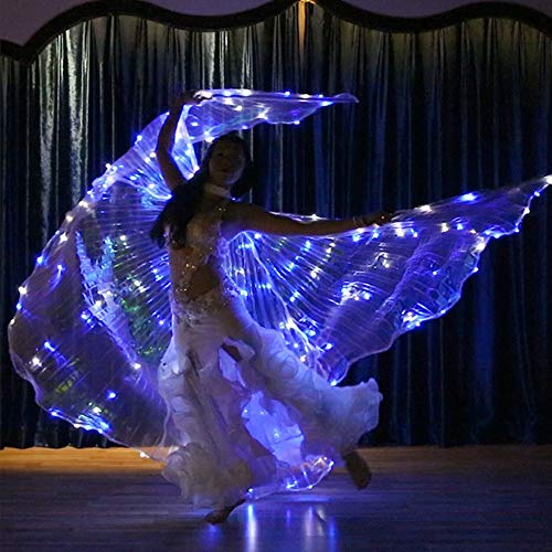 Led Light Dance Kostüm - Womens Girls Shawl Butterfly Wings Dance