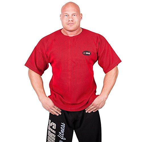 Gym-Shirt S8 - Erhältlich in den Farben: blau, hellgrau, rot, weiß, schwarz / Bodybuilding Shirt, Fitness T-Shirt - Ideal f. Workout im Fitness-Studio Rot