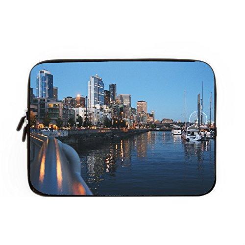 hugpillows Laptop Hülle/Tasche City Port Gebäude Abend Notebook Sleeve Cases mit Reißverschluss für MacBook Air 12 zoll - Codi-laptop-tasche