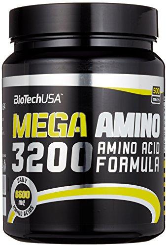 Biotech USA Mega Amino 3200 500 Tabletten, 1er Pack (1 x 925 g) - 52 Tabletten