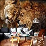 Fond D'écran Personnalisé Hd 3d Dominant Lion Photographie Animale Tv Toile De Fond Grand Mur Mural Toile De Fond De Mur De L'animal Largeur 250cm - Hauteur175cm un