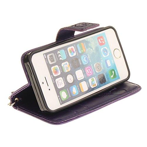 PU Prägen Panda Silikon Schutzhülle Handyhülle Painted pc case cover hülle Handy-Fall-Haut Shell Abdeckungen für Smartphone Apple iPhone 5 5S SE +Staubstecker (7CR) 3