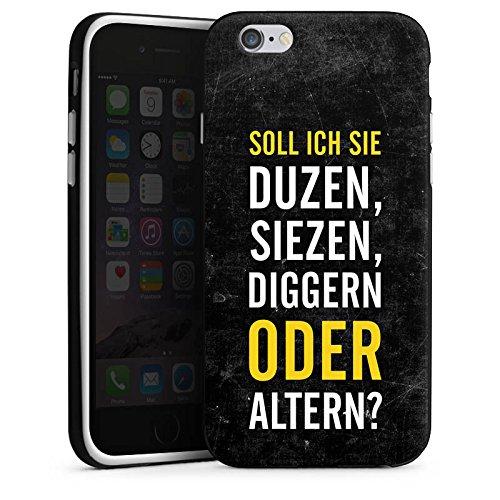 Apple iPhone X Silikon Hülle Case Schutzhülle Humor Lustig Sprüche Silikon Case schwarz / weiß