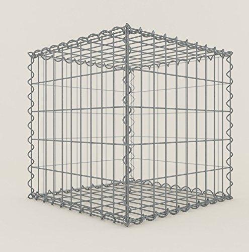 GABIONA Steinkorb-Gabione eckig, Maschenweite 5 x 10 cm, Tiefe 50 cm, Spiralverschluss, galvanisch...